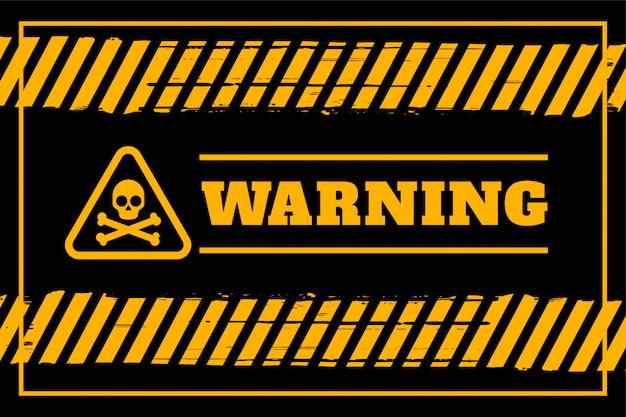 黄色と黒の色で汚れた警告の背景 無料ベクター