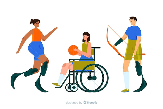 Disabled athlete Free Vector
