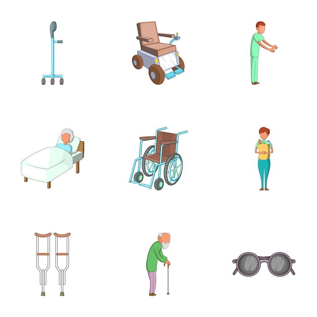 Disabled people Premium Vector