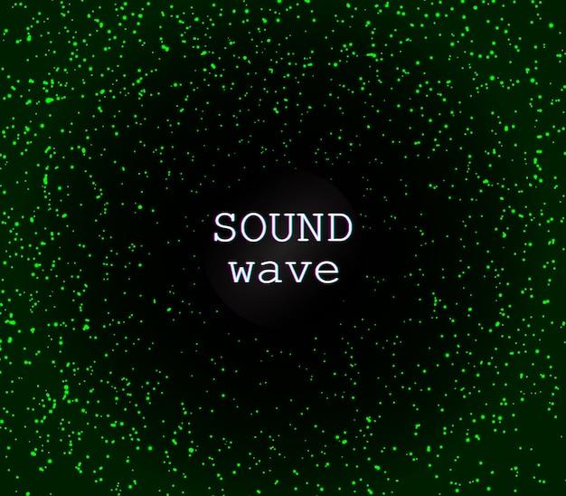 ディスコの背景。緑の魔法のライト。輝く。緑の抽象的な粒子。光の効果。流れ星。きらびやかな粒子。休日のきらめくライト。 Premiumベクター