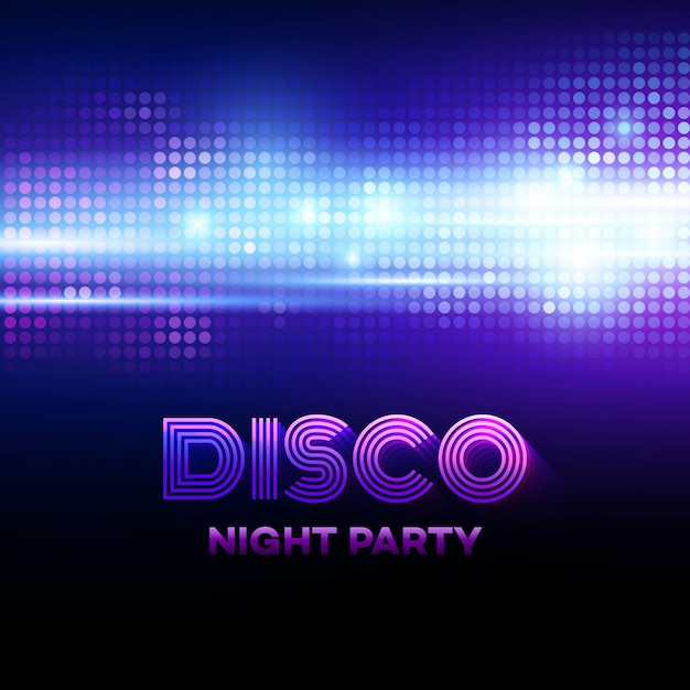 Disco background with discoball. vector illustration Premium Vector