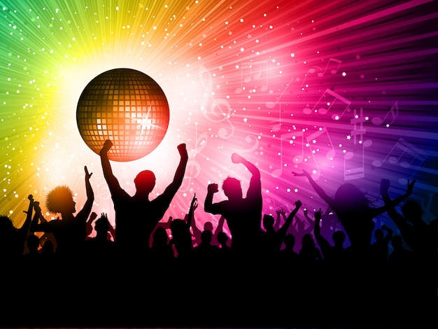 Disco background Free Vector