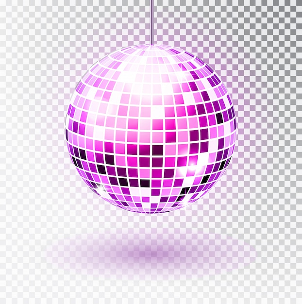 Диско шар изолированных иллюстрация. ночной клуб участник света элемент. Premium векторы