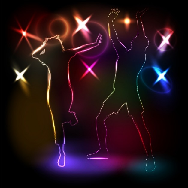 Disco Dancing Background