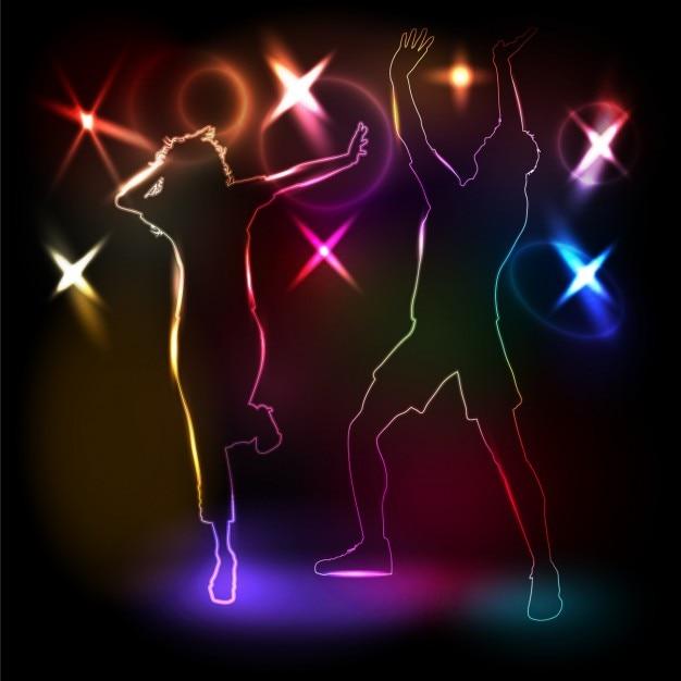 Disco Dancing Background