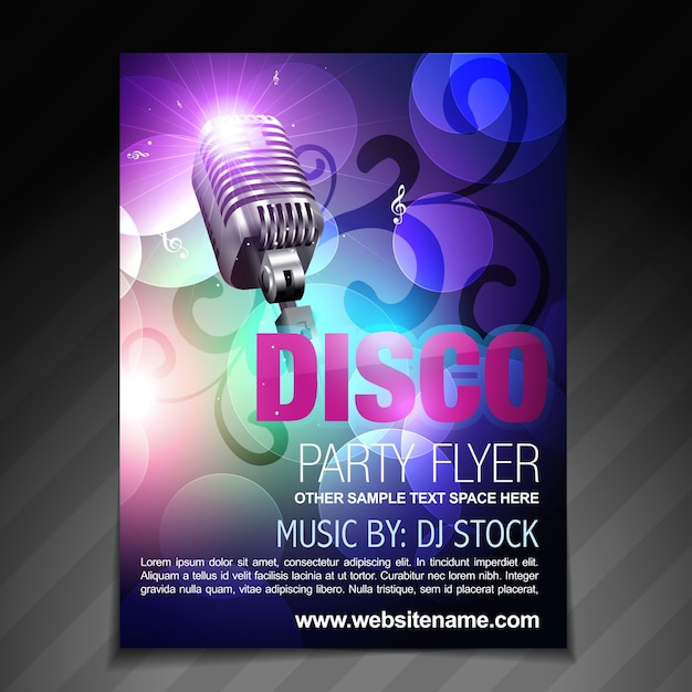 Disco Flyer Template Vector  Premium Download