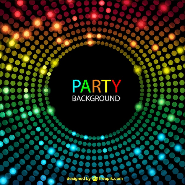 Disco lights background Free Vector