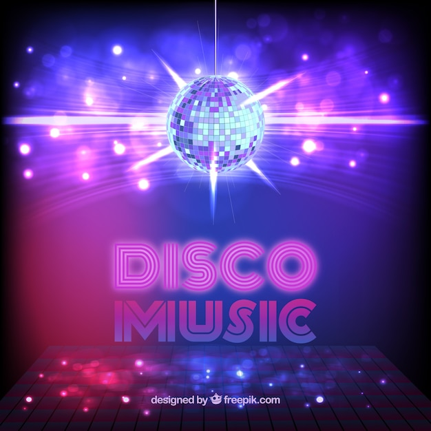 Disco music Free Vector