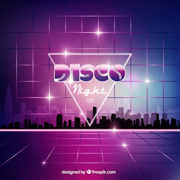 Disco night background Free Vector