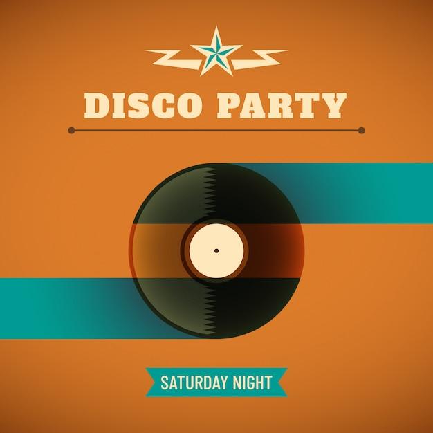 Disco Party Background Vector Premium Download