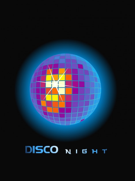 Disco party ball Free Vector