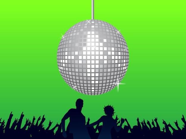 Disco party club dancing vector