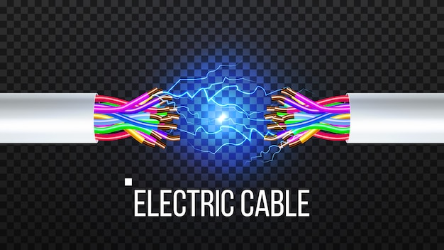 Disconnect electric cable Premium Vector
