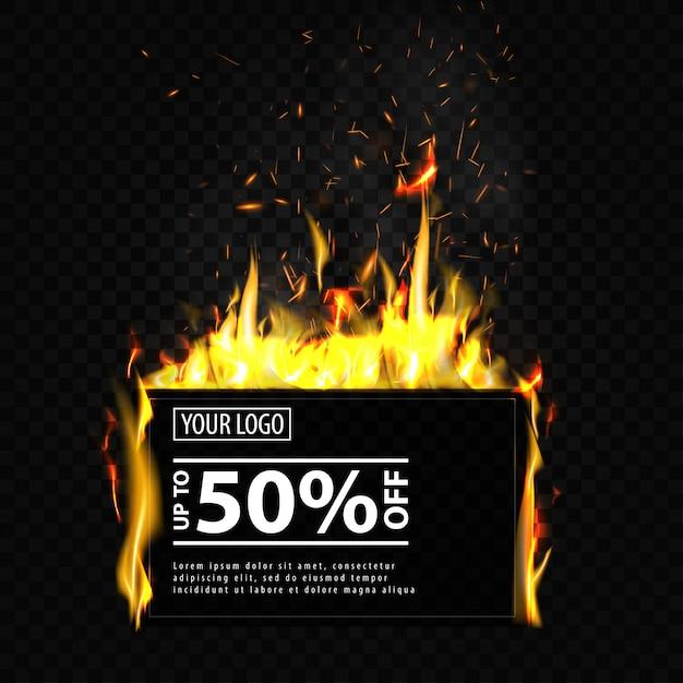 Discount banner template Premium Vector