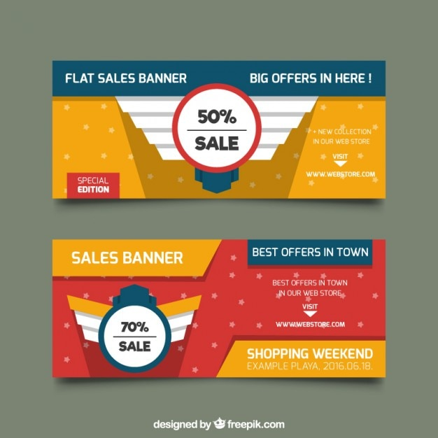 Discount banner Vector | Free Download