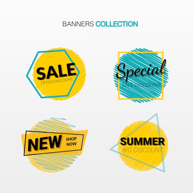 Discount cards set of special offer Free Vector