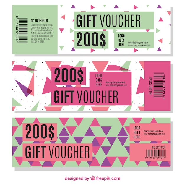 Discount coupons set with triangles vector free download - Houseplanscom discount code set ...