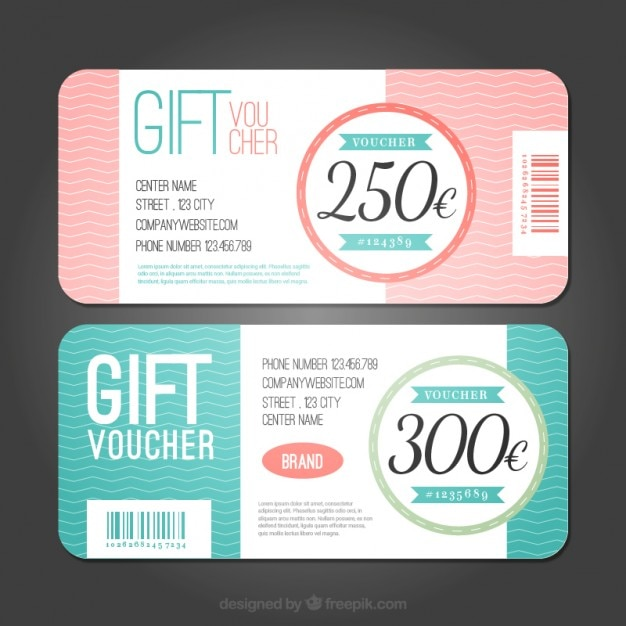 Discount coupons with lines Free Vector