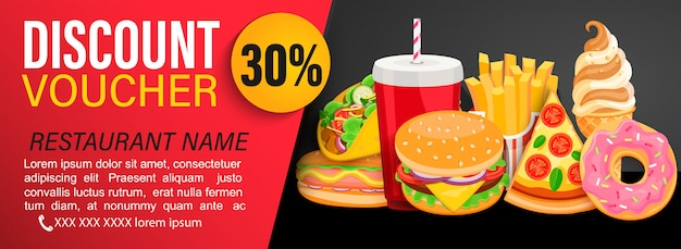 Discount gift voucher with 30 percent price off. Premium Vector