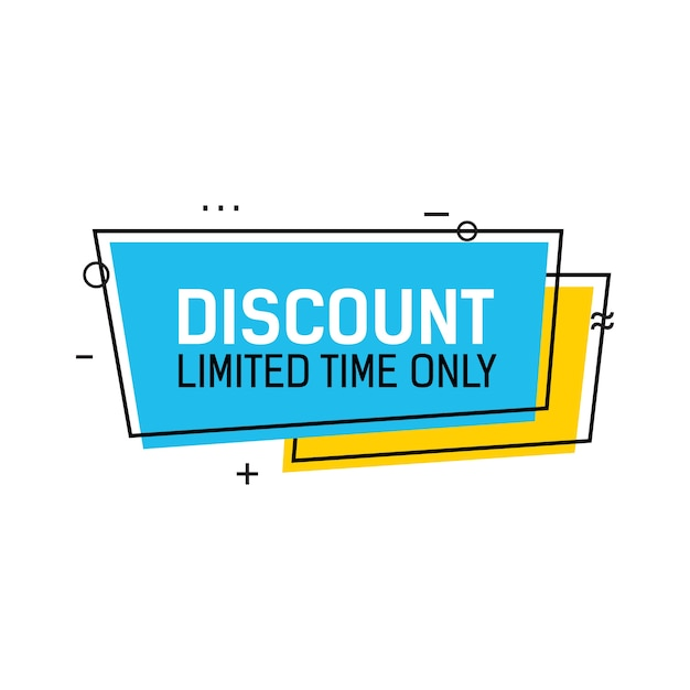 Discount limited time lettering Premium Vector