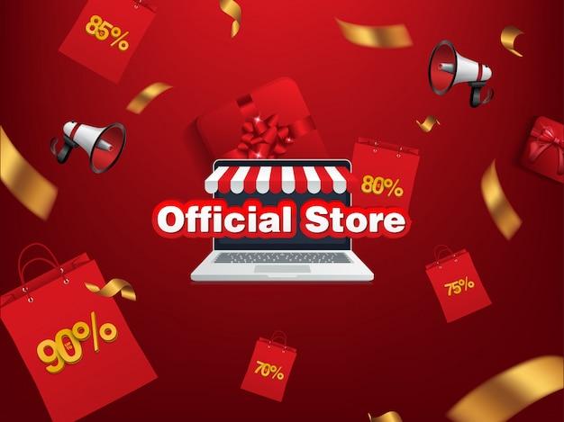 割引、オンラインショップの公式店 Premiumベクター