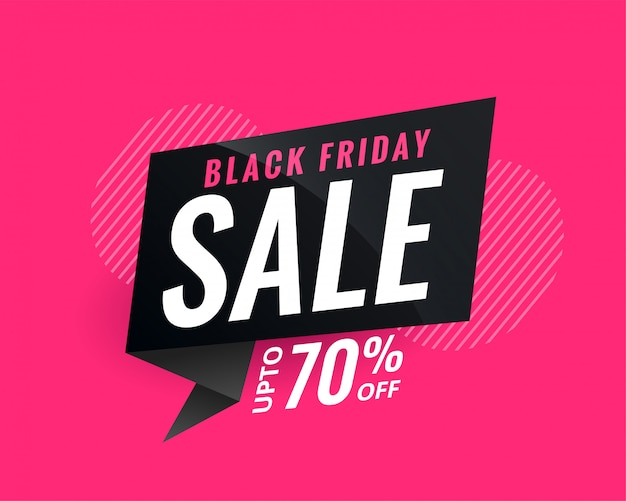 Discount sale banner for black friday Free Vector