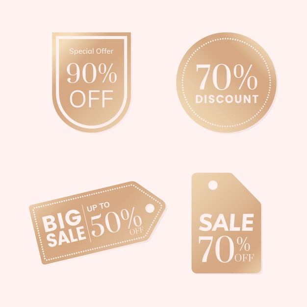 Discount tag collection Free Vector