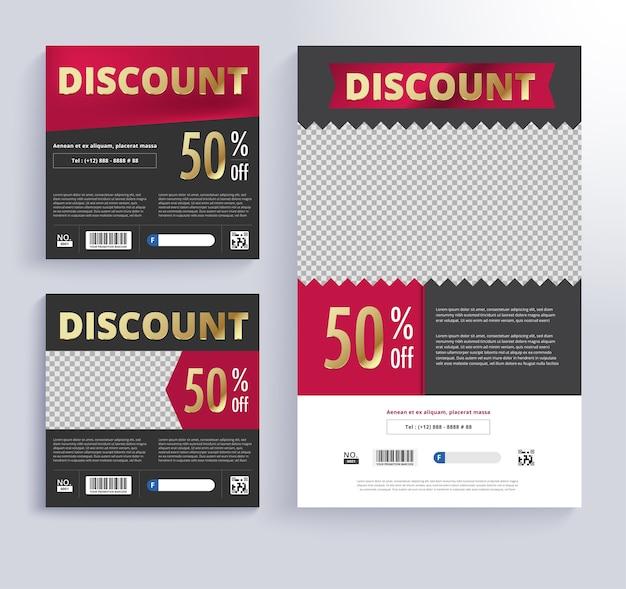 Discount voucher Template Vector | Premium Download