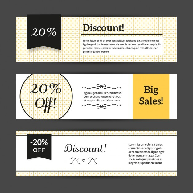 Discount Voucher Templates With Cute Pattern Collection Free Vector  Free Discount Vouchers
