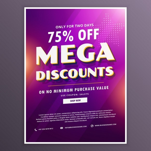 Discount voucher with blurred texture Free Vector
