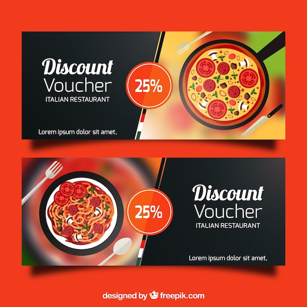 Discount vouchers banners design Vector – Free Discount Vouchers