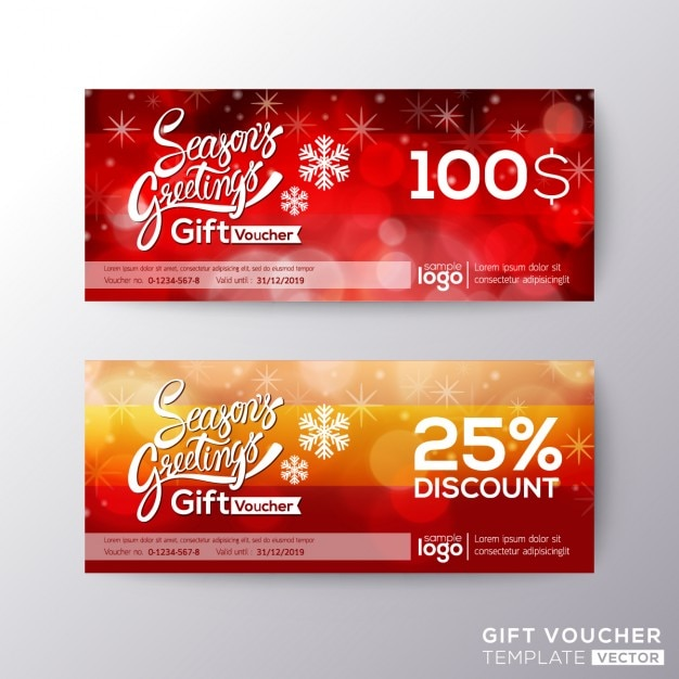 Discount vouchers for christmas Vector | Free Download