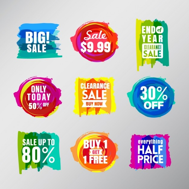 Discount vouchers with watercolor Vector – Free Discount Vouchers