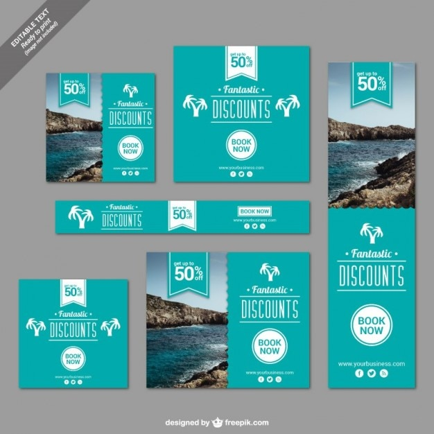 Travel Promotion Banners Plate Banners