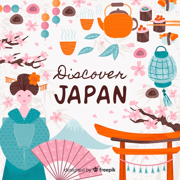Discover japan Free Vector