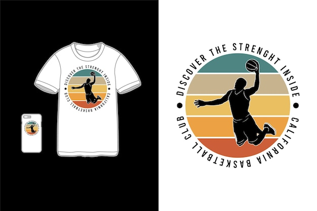 Discover the strenght inside t-shirt merchandise Premium Vector