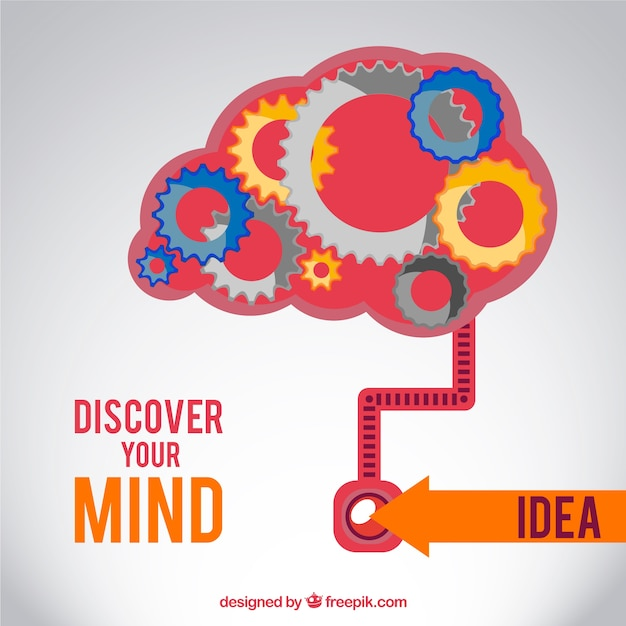 Discover your mind Premium Vector