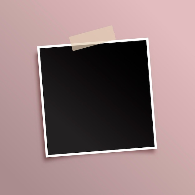 Display background with black photo frame Free Vector