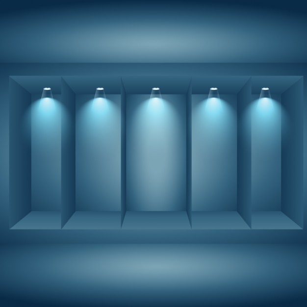 Display wall with lights Vector Free Download