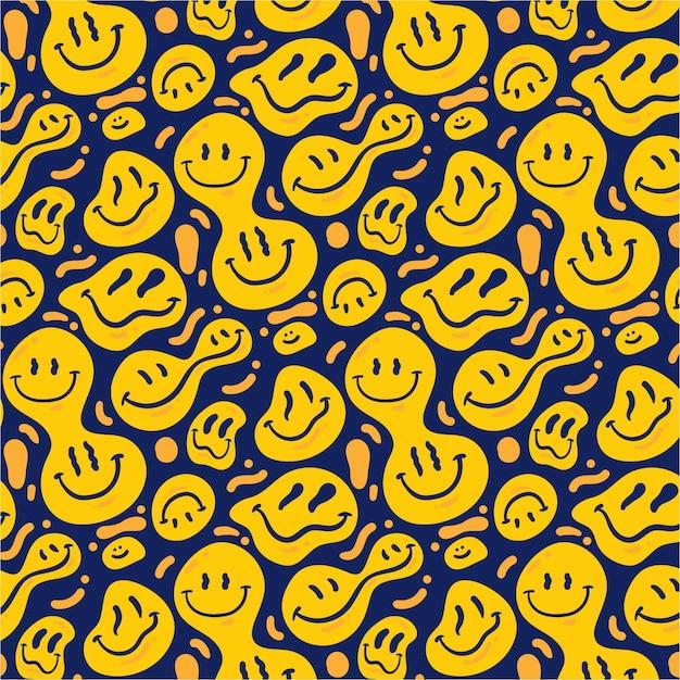 Шаблон смайлика искаженная улыбка Бесплатные векторы