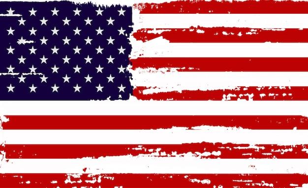 苦痛のアメリカの国旗 Premiumベクター