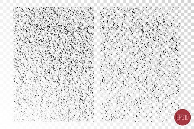 粗い表面、ひびの入った壁、石、古いペイントの苦しめられた詳細なオーバーレイテクスチャ。 Premiumベクター