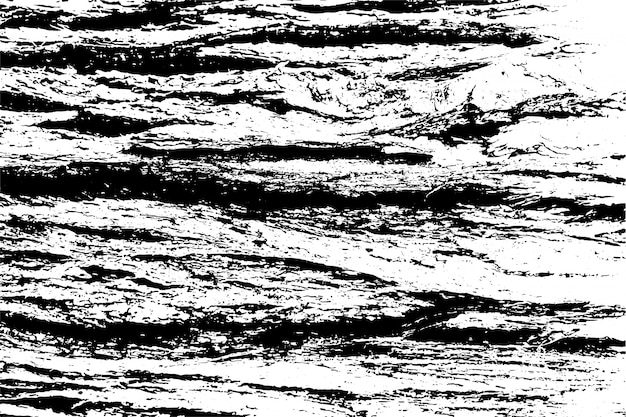 粗い表面、ひびの入った木、木の樹皮の苦しめられたオーバーレイテクスチャ。グランジ背景。 1つのカラーグラフィックリソース。 Premiumベクター