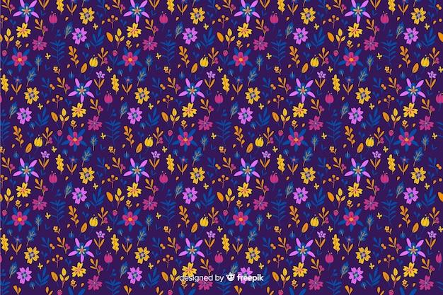 Ditsy красочный фон цветочный Бесплатные векторы