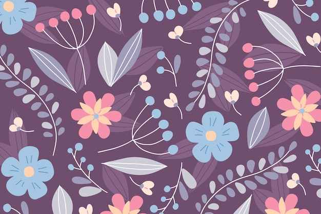 Ditsy floral background Free Vector