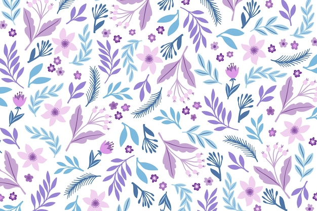 Ditsy floral print background Free Vector