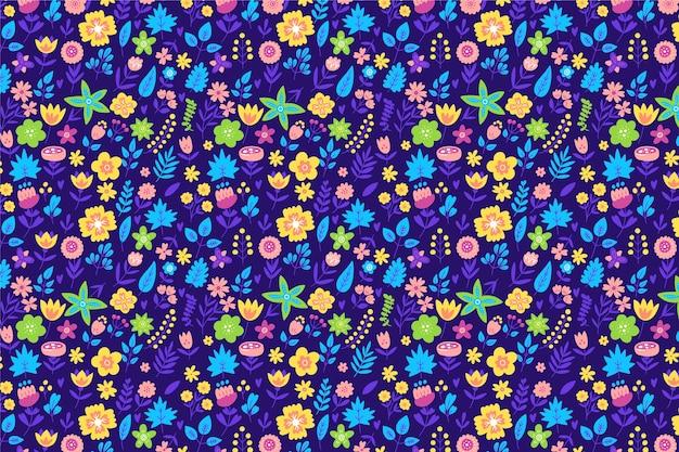 Ditsy цветочные мотивы разбросаны случайным образом Бесплатные векторы