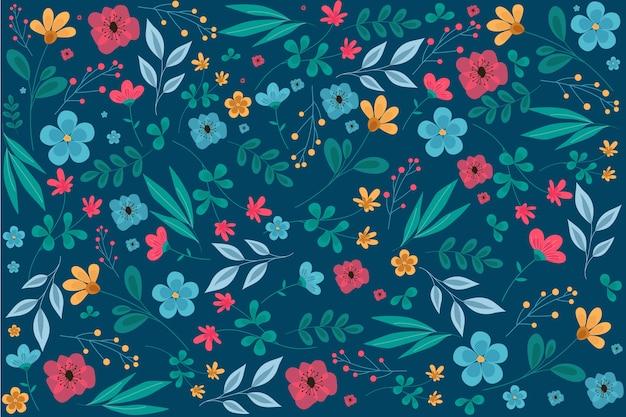 Ditsy цветочный принт фон Бесплатные векторы