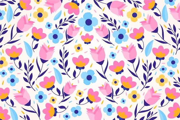 Красочный ditsy цветочный принт фоновой темы Бесплатные векторы
