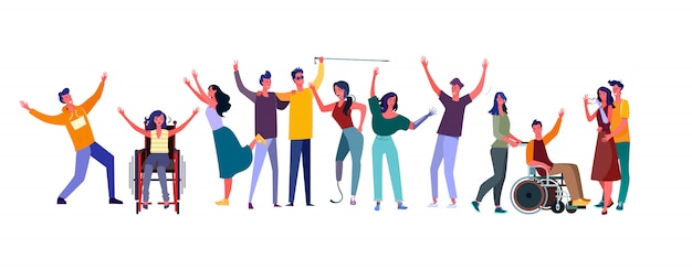 Diverse people set Free Vector